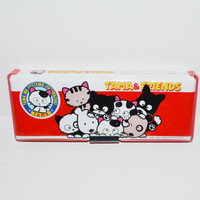 Vintage Tama & Friends Pencil Box Tombo Sony Creative Tama and Friends 2 Sided Magnetic Padded Pencil Case Box