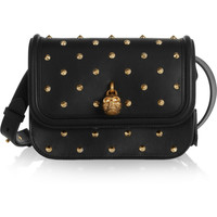 Alexander McQueen | Padlock studded leather shoulder bag | NET-A-PORTER.COM