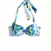 AE Retro Halter Bikini Top, Blue | Aerie for American Eagle