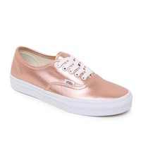 Vans Authentic Leather Rose Sneakers - Womens Shoes - Rose Gold -