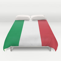 The National Flag of Italy - Authentic Version Duvet Cover by LonestarDesigns2020 - Flags Designs +