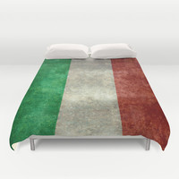 The National Flag of Italy - Vintage Version Duvet Cover by LonestarDesigns2020 - Flags Designs +