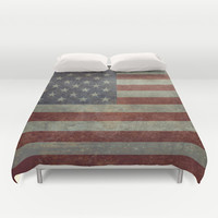 Flag of the United States of America - Vintage version to G-spec Scale Duvet Cover by LonestarDesigns2020 - Flags Designs +