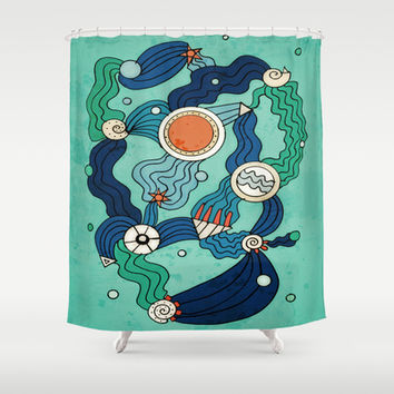 The Aquatic Environment Shower Curtain by DuckyB (Brandi)
