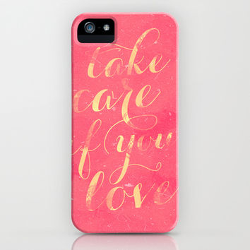 Take Care iPhone & iPod Case by Grace