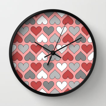 I Heart You Wall Clock by tzaei | Society6