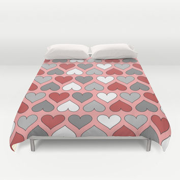 I Heart You Duvet Cover by tzaei | Society6