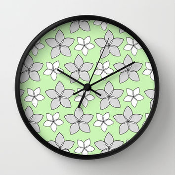 Plumeria Love Wall Clock by tzaei | Society6