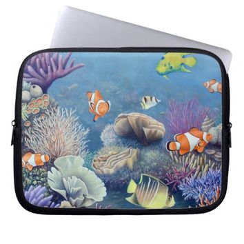 Coral Reef laptop sleeve