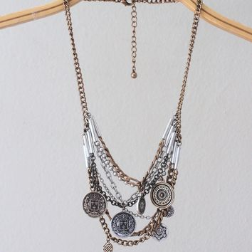 Aztec Coined Necklace