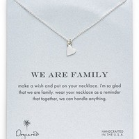 Dogeared 'We Are Family' Boxed Sideways Heart Pendant Necklace