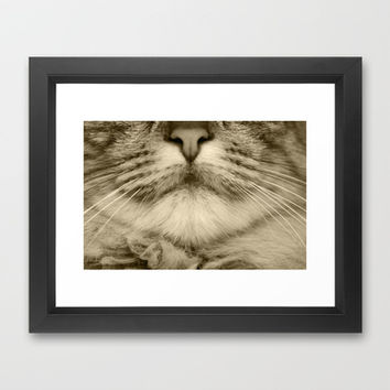 cats details brown Framed Art Print by Steffi ~ findsFUNDSTUECKE