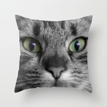 cats details square Throw Pillow by Steffi ~ findsFUNDSTUECKE