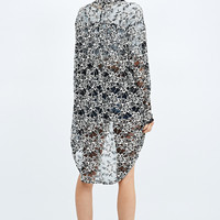 Pins & Needles Cocoon Lace Cardigan in Black and White - Urban Outfitters