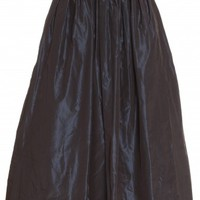 Boutique 1 - MARTIN GRANT - Navy Long Taffeta Ball Skirt | Boutique1.com