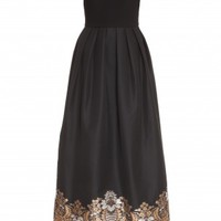 Boutique 1 - MARTIN GRANT - Black Gold Embroidered Gown | Boutique1.com