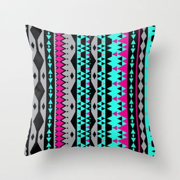 Mix #503 Throw Pillow by Ornaart