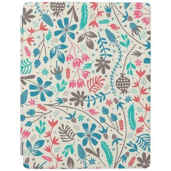 Retro Floral Pattern Apple iPad Case