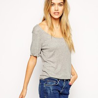 ASOS Forever T-Shirt wih Scoop Neck in Baby Rib