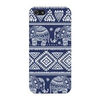 Blue Elephants Aztec Hard Case Cover iPhone 5C