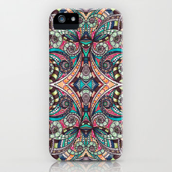 Drawing Floral Zentangle G237 iPhone & iPod Case by MedusArt