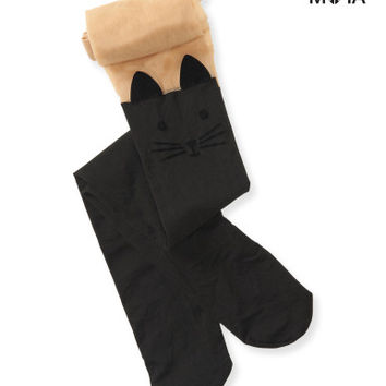 Aeropostale Womens Cat Tights - Black,