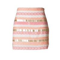 Malibu Beauty Sequin Skirt - Pink | Daily Chic