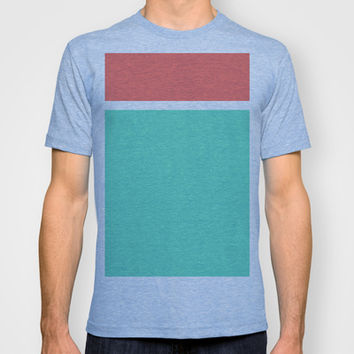 Coral/White/Teal Stripe T-shirt by Bethany Mallick