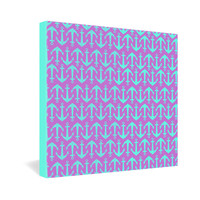 Allyson Johnson Purple Anchors Gallery Wrapped Canvas