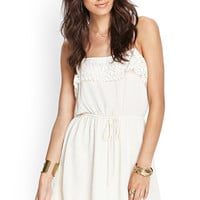 Crochet-Trimmed Cami Dress