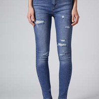 MOTO AUTHENTIC RIPPED SKINNY JEANS