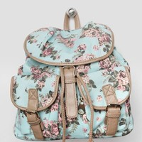 Backyard Picnic Floral Backpack In Mint