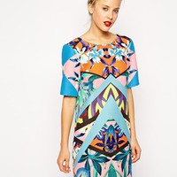 ASOS Placement Print T-Shirt Shift Dress