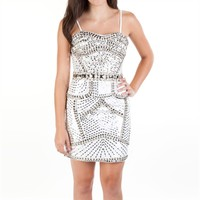 Bella™ Juniors Beaded Strapless Dress at Von Maur