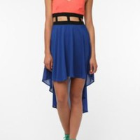 UrbanOutfitters.com &gt; Reverse Chiffon Lattice Waist Dress