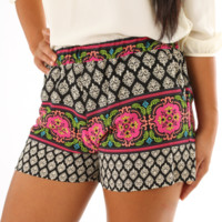 Under My Damask Shorts: Multi | Hope's