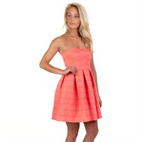 Honey Punch Juniors Strapless Scalloped Dress at Von Maur