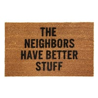 BETTER STUFF DOORMAT | coir, funny door mats, rugs | UncommonGoods