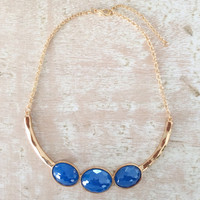 Blue Incandescent Necklace