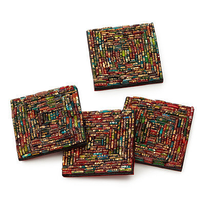 BANGLE COASTERS - SET OF 4 | Indian Bracelet, Exotic Decor | UncommonGoods