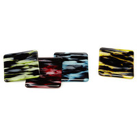 SMOKY GLASS COASTERS - SET OF 4 | Fused Glass Coaster Sets | UncommonGoods