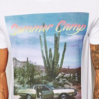 ASOS T-Shirt With Summer Camp Print at asos.com