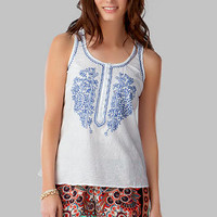 FAIRHOPE EMBROIDERED TANK
