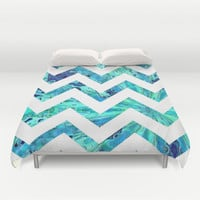 Arctic Blast Chevron Duvet Cover by gretzky | Society6