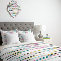 Khristian A Howell Studio 54 In White Duvet Cover