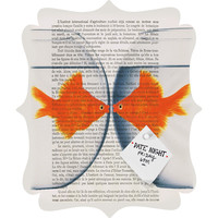 Coco de Paris Goldfish Love Quatrefoil Magnet Board