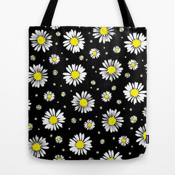 Daisies Tote Bag by Ornaart