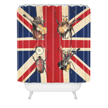 Eric Fan Meet The Beetles Shower Curtain