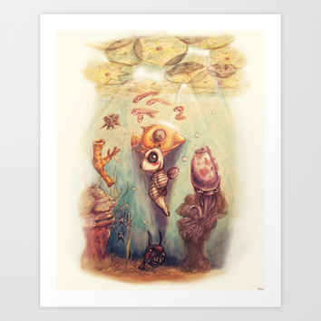 Below the Surface Art Print Promoters