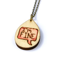 Pyrography Jewelry - Wood Burned - Wood Burned Jewelry - Wood Burned Sign -One Word Jewelry - Word Jewelry